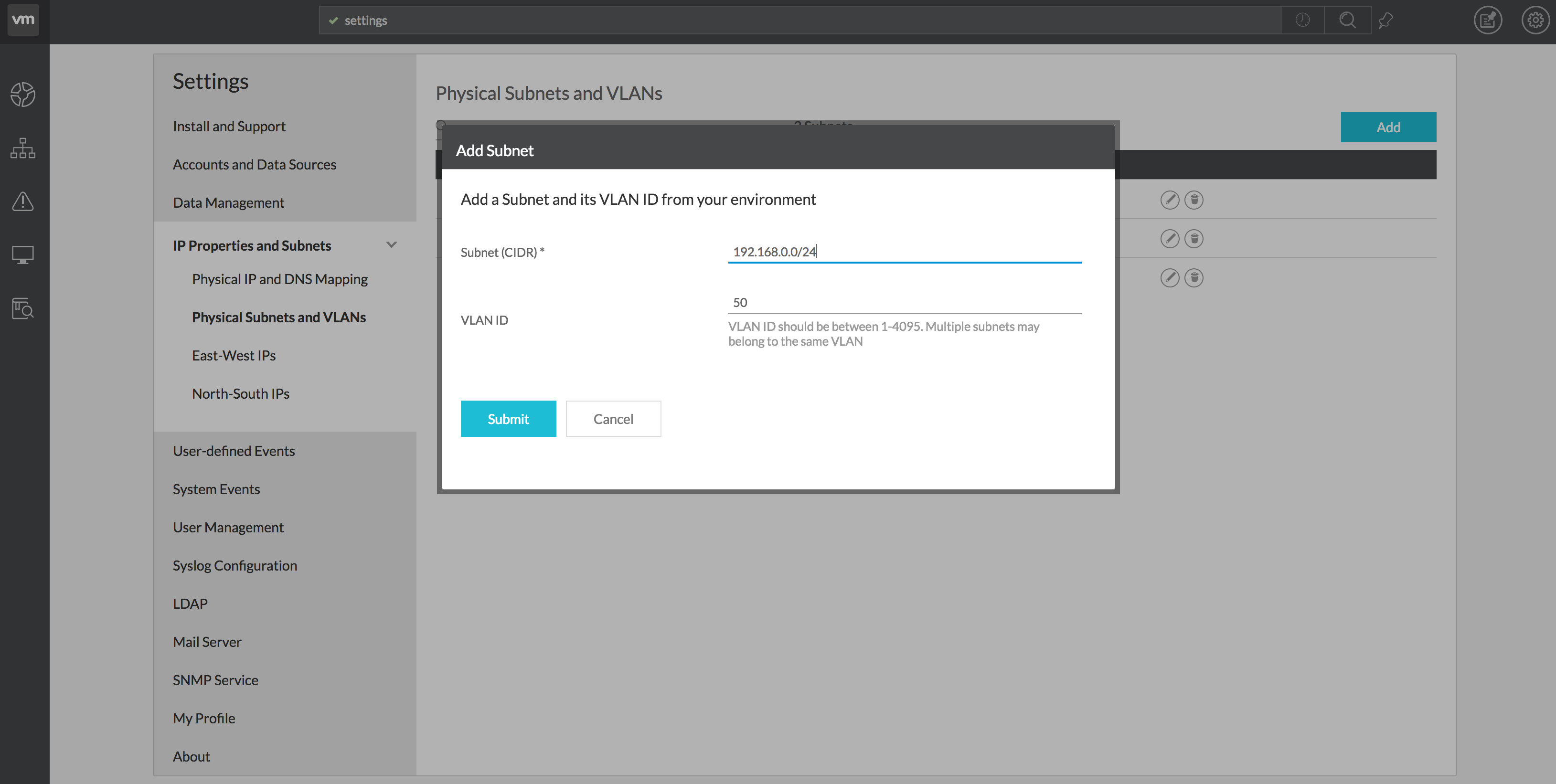 NetFlow on Physical switches with vRealize Network Insight