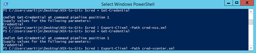 Creating PowerShell credentials